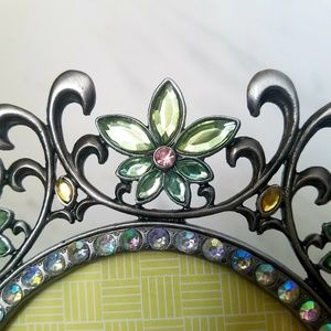 Vivid Rose Shop Wall Art - FLOWER FRAME Round with Jewels